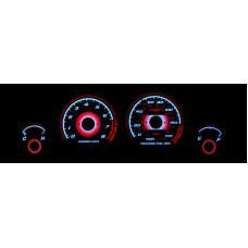 1990-1993 Acura Integra LS/RS/GS TYPE-R Style Red Glow E.L Glow Gauge Face for Instrument Cluster