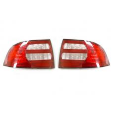 2004-2008 Acura TL DEPO RED / Clear Rear Tail Light Cover Set