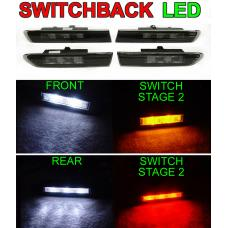 2004-2008 Acura TL Smoke 4 Pieces Switchback LED Side Marker Lights For Base OR Type-S Models