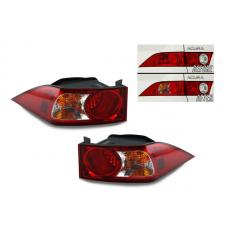 2006-2008 Acura TSX DEPO JDM Style Red/Clear Outer Tail Light Set