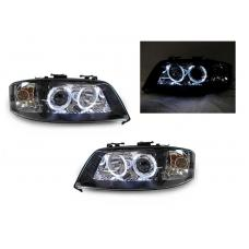 2002-2004 Audi A6 C5 Non-V8 Models DEPO D2S Xenon or Halogen Model Angel  Eye Halo Projector Headlight