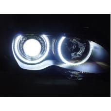 REVi MotorWerks UHP (Ultra High Power) LED Angel Eye Halo RIngs For DEPO or OEM BMW E46 Headlight