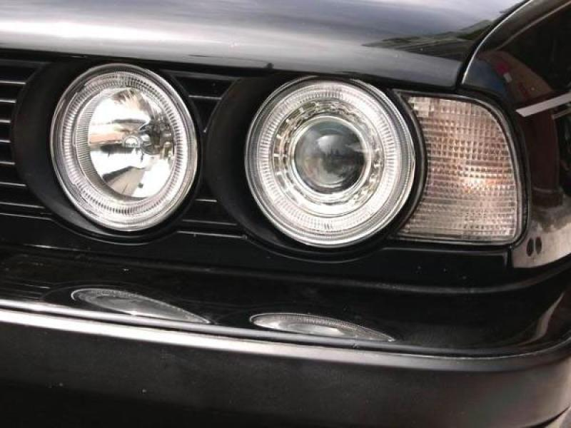 1989-1996 BMW E34 5 Series / E32 7 Series DEPO Angel Eye Projector Glass  Lens Headlights - Illuminate Your Presence :: Unique Style RacingUnique Style Racing