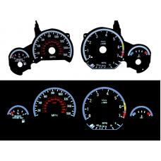 1992-1999 BMW E36 3 Series - E92 M3 Style Glow Gauge Face Overlay Set