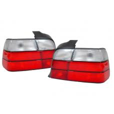 1992-1998 BMW E36 3 Series 4D Sedan DEPO Red/Clear or Red/Smoke Tail Lights