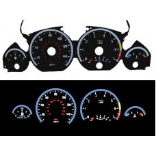 1999-2006 BMW E46 3 Series - E92 M3 Style Glow Gauge Face Overlay Set