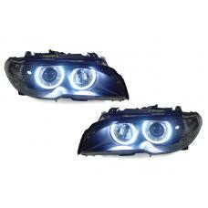 2004-2006 BMW 3 Series E46 2D Coupe / Cabrio DEPO Angel Halo Projector Headlight