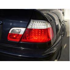 2000-2003 BMW E46 3 Series 2 Door Coupe DEPO Red / Clear or Red / Smoke LED Tail Light