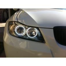 2009-2011 BMW 3 Series E90 / E91 DEPO Projector UHP LED Angel Halo Headlight With Clear Corner
