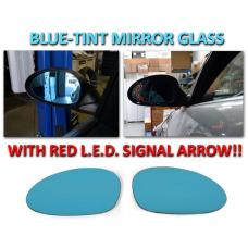 2006-2012 BMW 3 Series E9x Red Arrow LED Blue Glass Side Mirrors Upgrade