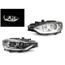 2012-2015 BMW F30 / F31 3 Series 4 Door Sedan / 5 Door Wagon DEPO Black LED Angel Eyes Halo Rings Projector Headlight