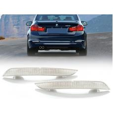 2012-2015 BMW 3 Series F30 / 2014-2017 F32 4 Series DEPO Clear or Smoke Rear Bumper Reflector Light