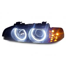 1997-2003 BMW E39 DEPO V2 Projector Angel Eye Halo Projector Headlight With LED Signal