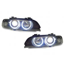 1997-2003 BMW 5 Series E39 DEPO Projector Angel Halo Headlight With Optional LED Ring / Xenon HID