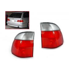 1999-2000 BMW E39 5 Series 5 Doors Wagon DEPO Red/Clear Euro Tail Light