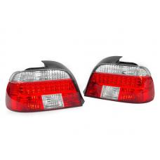 1997-2000 BMW E39 5 Series 4D Sedan Facelift Look DEPO Red/Clear or Red/Smoke LED Tail Light