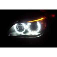 White LED Angel Eye Upgrade Bulb Kit For With Factory Halo Applications - BMW E39 / E60 / E53 X5 / E63 / E65