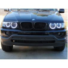2000-2003 BMW X5 E53 DEPO Projector UHP LED Angel Halo D2S Projector Headlight With Clear Corner