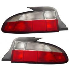 1996-2000 BMW Z3 Roadster Euro Style Red / Clear Rear Tail Light