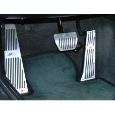 BMW E46/E36 Convertible AlumInum With Rubber Insert Pedals / Footrest Dead Pedal / Handbrake