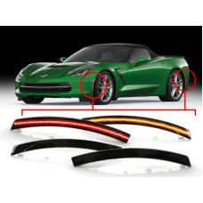 2014-2019 Chevrolet Corvette C7 USR Smoke Front and Rear 4 Pieces LED Bumper Side Marker Light