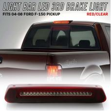 2004-2008 Ford F150 / F-150 Pickup Truck 2 in 1 Red/Clear or Smoke 3rd Brake Light LED Bar with White LED Cargo Lamp