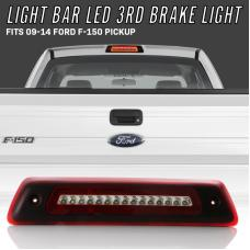 2009-2014 Ford F150 / F-150 Pickup Truck 2 in 1 Red/Clear or Smoke 3rd Brake Light LED Bar with White LED Cargo Lamp