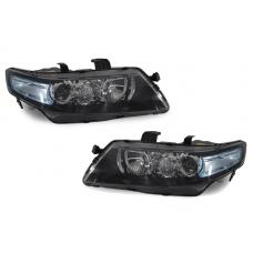 2004-2008 Acura TSX JDM CL7 Blue Corner D2S Projector Headlights