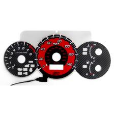 2002-2005 Honda Civic Si Type-R Red Glow or Carbon Fiber Glow Gauge For Instrument Cluster