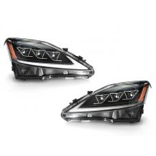 2006-2013 Lexus IS250 IS350 CLEAR or AMBER Corner Reflector Full LED Switchback DRL + Sequential Signal Headlight