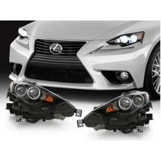 2014-2016 Lexus IS200t IS250 IS350 DEPO F Sport Style LED Dual Projector Headlight for Xenon HID Models to Upgrade