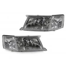 1995-1997 Lexus LS400 DEPO JDM Style Glass Clear Lens Headlights + Matching Corner Lights