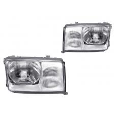 1986-1993 Mercedes Benz E Class W124 DEPO Euro Glass Headlight Set with Optional Xenon HID
