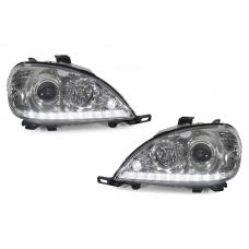 1998-2001 Mercedes M Class W163 DEPO LED Strip Projector Headlight