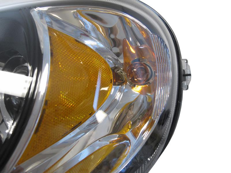 2002-2005 Mercedes M Class W163 DEPO Halogen Model Black Projector  Headlight With Optional Xenon HID