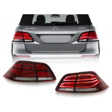 2012-2015 Mercedes ML Class W166 DEPO Real OEM GLE Look Rear 4 Piece LED Tail Light Set
