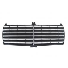 1984-1993 Mercedes C Class W201 S600 Style Black with Chrome Strip Front Grill