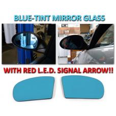 2001-2007 Mercedes C Class W203 Red Arrow LED Blue Glass Side Mirrors Upgrade