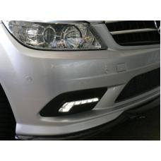 2008-2010 Mercedes C Class W204 Without Sport Package Bumper LED DRL Daytime RunnIng Light