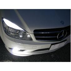 2008-2011 Mercedes C Class W204 Osram Chips CanBus No Error LED Bulbs For Headlight Eyelid / Eyebrow