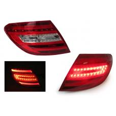 2008-2011 Mercedes Benz C Class W204 DEPO Facelift Style DOT / SAE Red/Clear or Red/Smoke Light Bar LED Tail Light