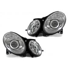 2003-2006 Mercedes Benz E Class W211 DEPO Facelift Style Projector Headlight for Halogen Model With Optional Xenon HID