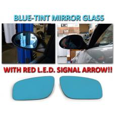 2007-2009 Mercedes E Class W211 Red Arrow LED Blue Glass Side Mirrors Upgrade