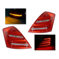 2007-2009 Mercedes S Class W221 DEPO Clear or Smoke Facelift Style LED Tail Light
