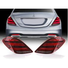 2014-2017 Mercedes S Class W222 Maybach AMG USA FACELIFT Plug & Play Red Lens Full LED Tail Light Set