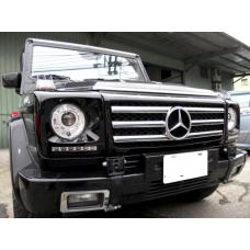 1990-2006 Mercedes G Class Wagon W460 / W463 Painted Headlight Bezel with LED DRL Daytime Running Light