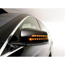 2001-2007 Mercedes C Class W203 SLS Style Painted LED Arrow Signal Mirror Cover With Step Light