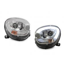 2011-2016 Mini Cooper Countryman R60 / Paceman R61 White LED DRL Half Ring Style Projector Black or Chrome Headlights