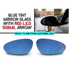 1998-2004 Porsche 911 Carerra 996 Chassis Red Arrow LED Blue Glass Side Mirrors Upgrade