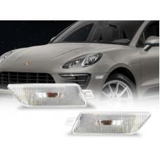 2014-2019 Porsche Macan OE Frost Lens Clear or Smoke Front Bumper Side Marker Light